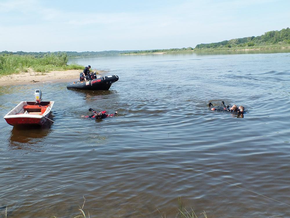 Šilutės rajono upėje ieškoma dar vieno skenduolio