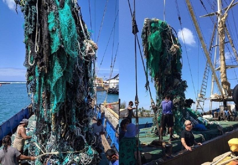 """Iš """"šiukšlių salos"""" ištraukė daugiau kaip 40 tonų šlamšto: bet tai tik lašas jūroje"""