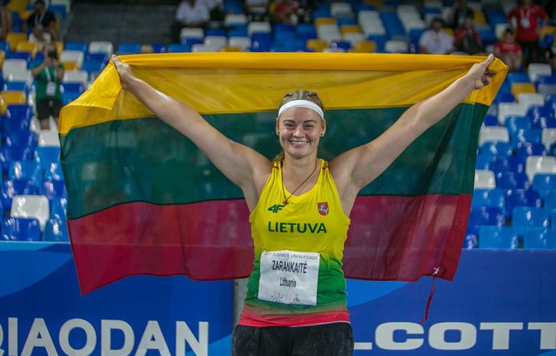 Universiadoje uteniškė I. Zarankaitė iškovojo bronzos medalį