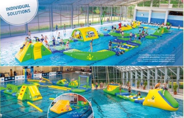 Varėnos baseinas taps dar didesniu traukos centru: bus įrengtas vandens batutų parkas