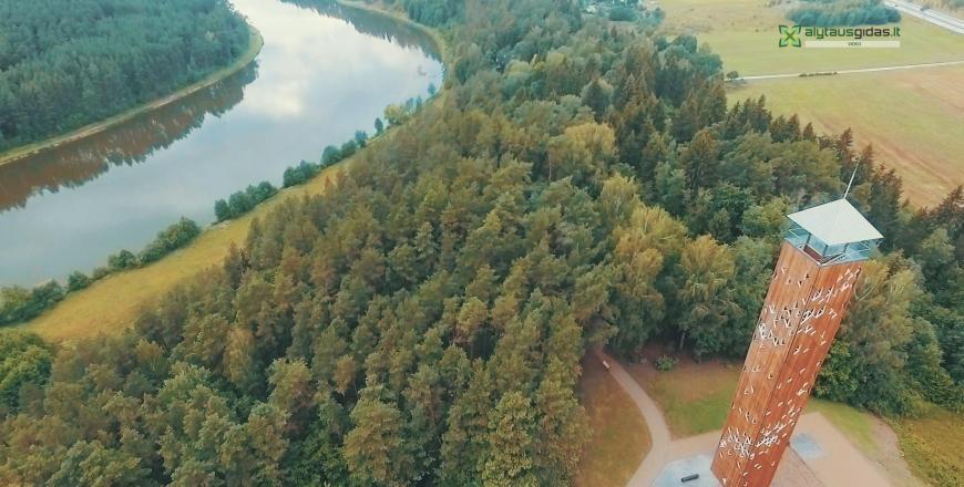 Aukščiausias šalyje apžvalgos bokštas atidarytas prie Birštono (vaizdo įrašas)