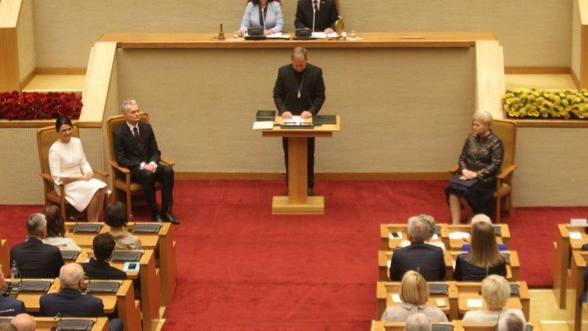 G. Nausėda davė priesaiką Lietuvai ir jos žmonėms (vaizdo įrašas)