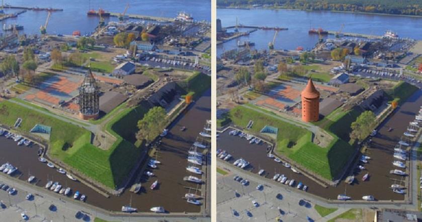 Pradedami Klaipėdos pilies bokšto atkūrimo darbai