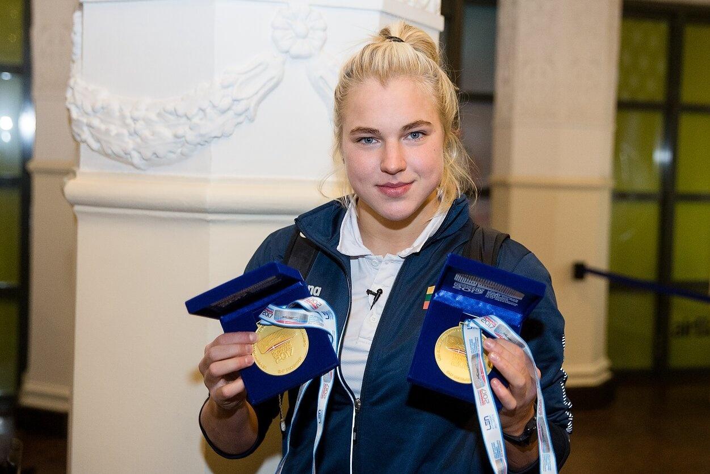 Olimpinė čempionė Rūta Meilutytė laukia visų Druskininkų vandens parke