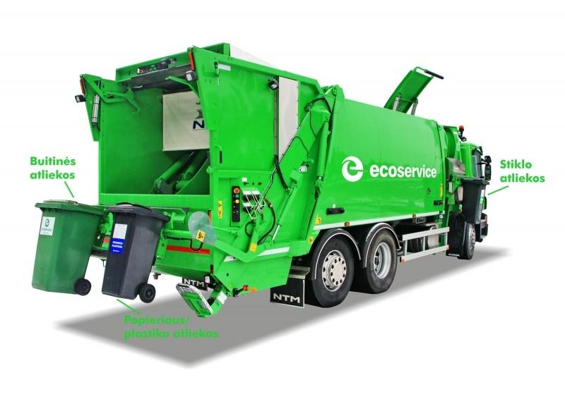 Svarbi informacija gyventojams: pakuočių atliekos išvežamos tik išstūmus konteinerį į gatvę
