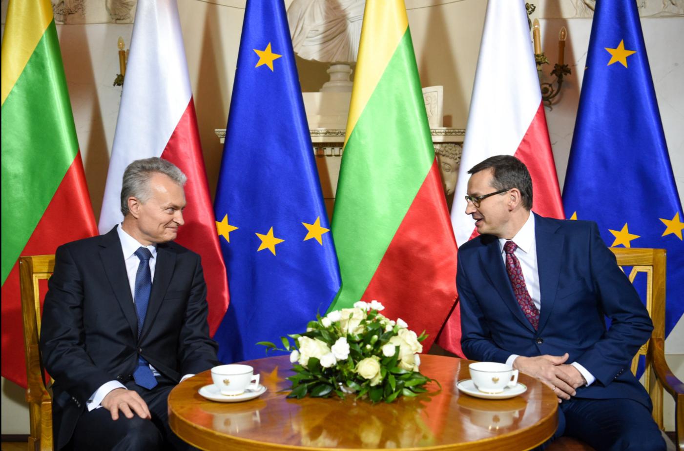Prezidento susitikime su Lenkijos Ministru Pirmininku aptarta Europos Sąjungos darbotvarkė