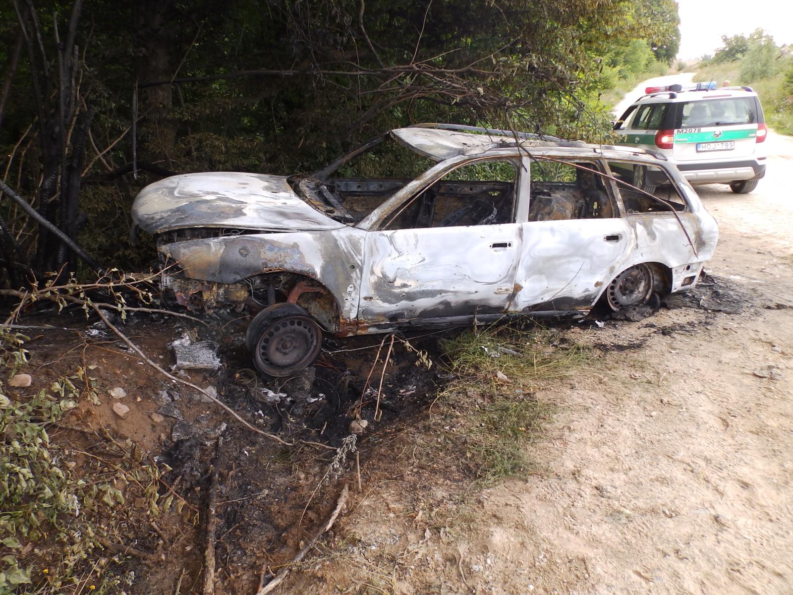 Kalvarijos gyventojo mašina rasta sudeginta