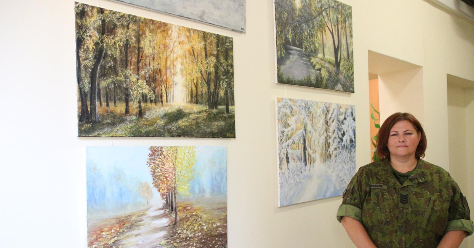 Oro gynybos batalione – neeilinė tapybos paroda
