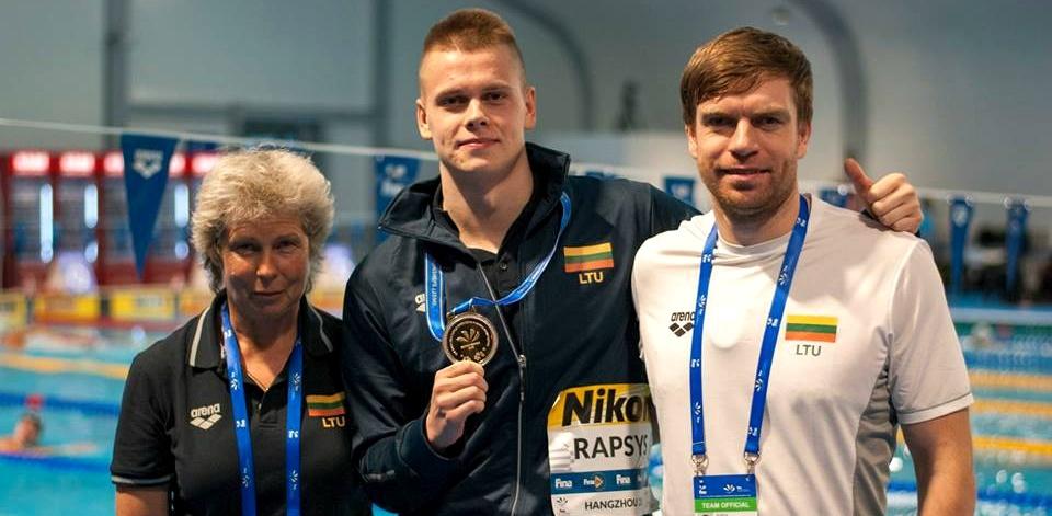 Atsigriebė Tokijuje: varžybų rekordą pagerinęs D. Rapšys iškovojo auksą pasaulio taurės etape