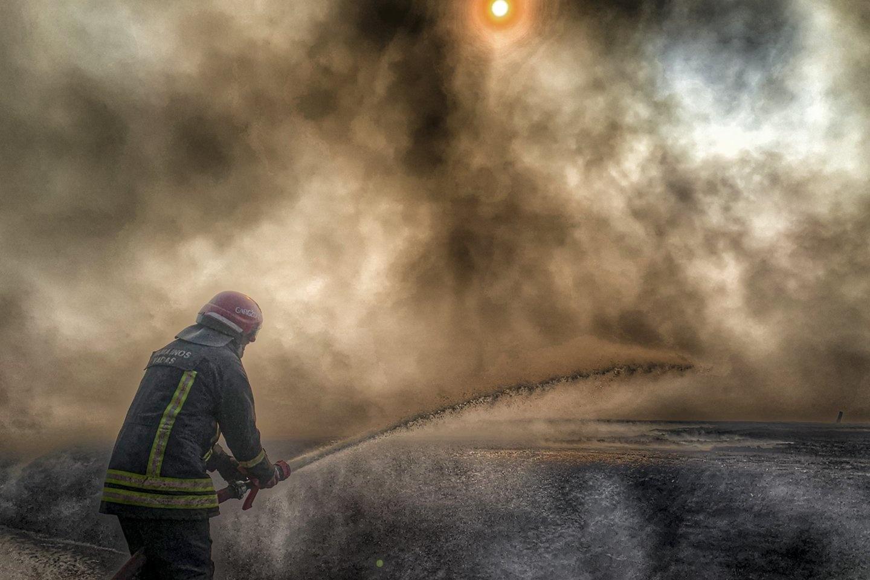 Pajūrio miestelyje degė automobilis