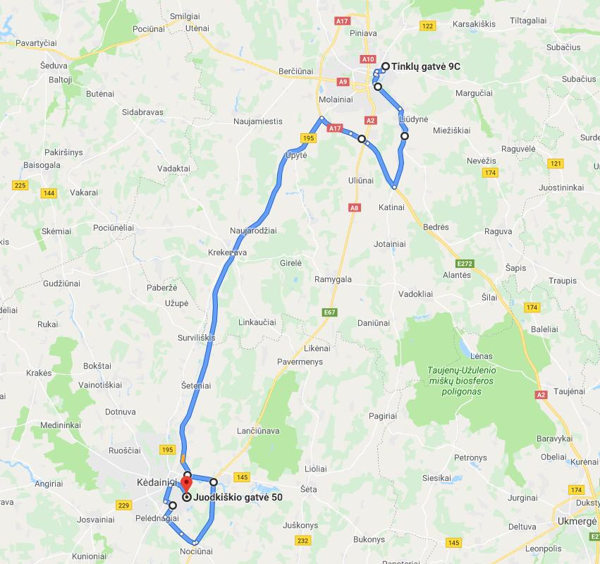 Kelyje Panevėžys-Kėdainiai judės didžiagabaritinė transporto priemonė