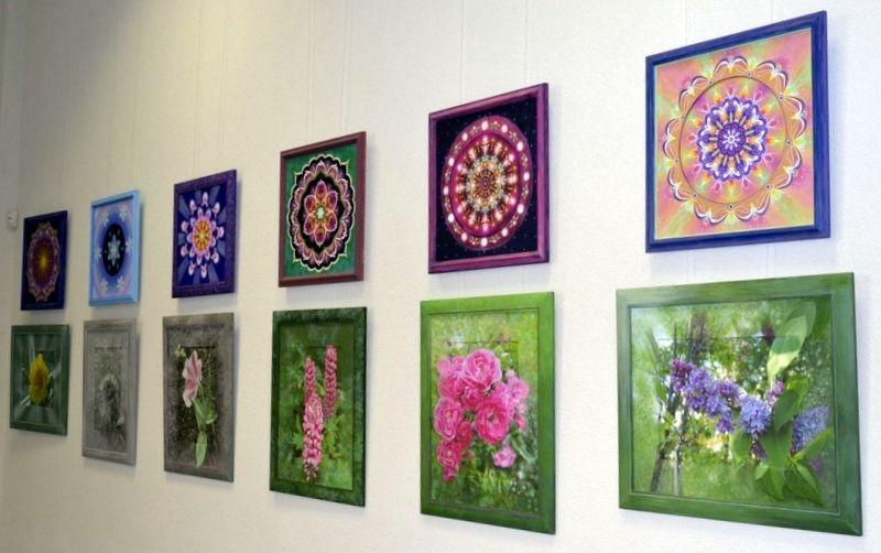 """Jungtinė mandalų ir gėlių paroda """"Šviesos ir spalvų harmonija"""""""