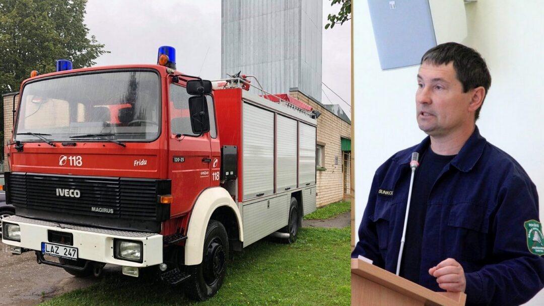 Ugniagesių komandoms – du gaisriniai automobiliai