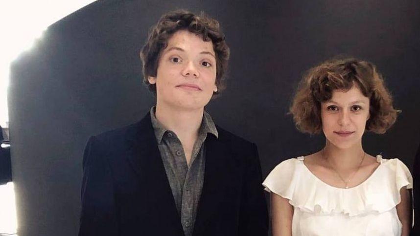 Rašytojas M. P. E. Martynenko su žmona A. Giedraityte susilaukė pirmagimio