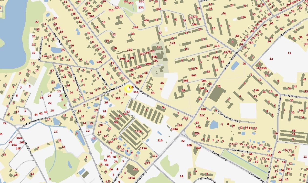 Bendruomeninius vaikų globos namus planuojama statyti Gandingos gatvėje