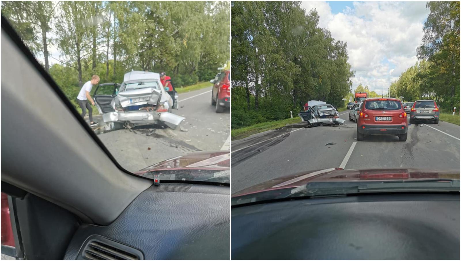 Vilniuje susidūrė keturi automobiliai, nukentėjo nėščia moteris ir paauglė