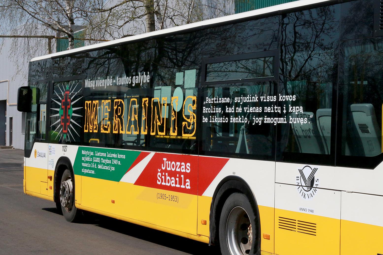 Partizanų istorijos atmintis – ant miesto autobusų