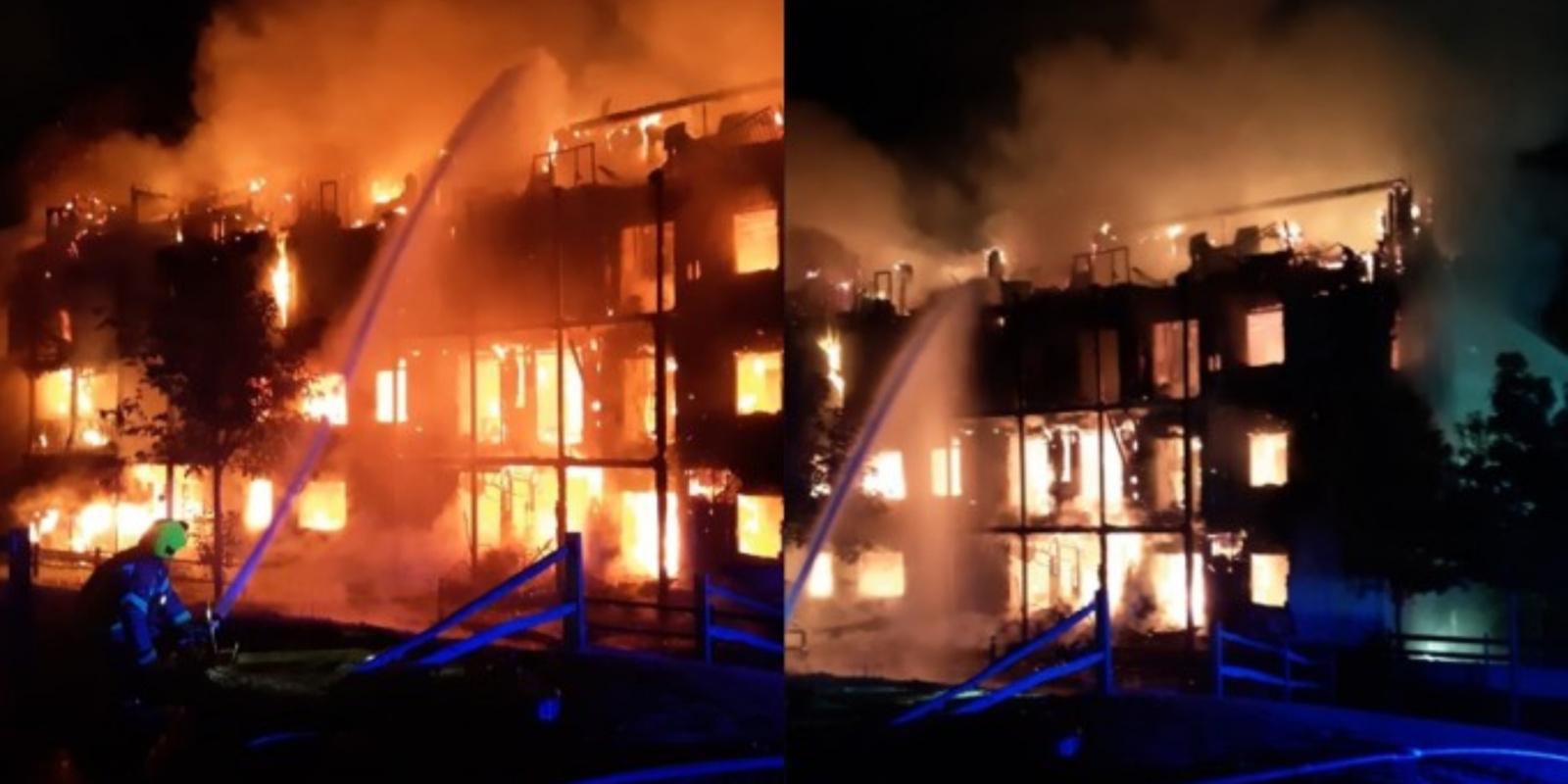 Didžiulis gaisras Londone: visiškai sudegė daugiabutis