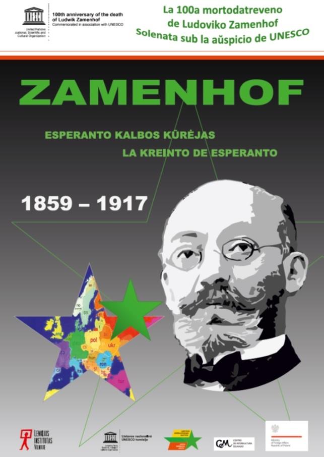 Jonavos krašto muziejuje – paroda esperanto kūrėjui L. Zamenhofui