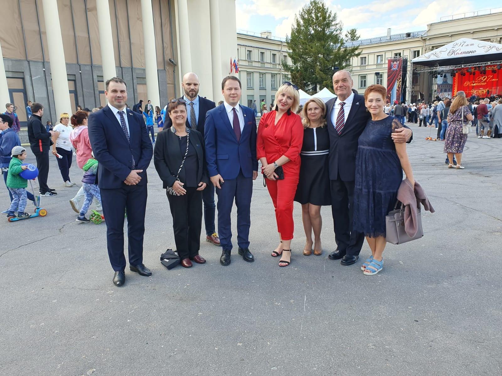 Druskininkų tarybos nariai pasveikino partnerius su švente