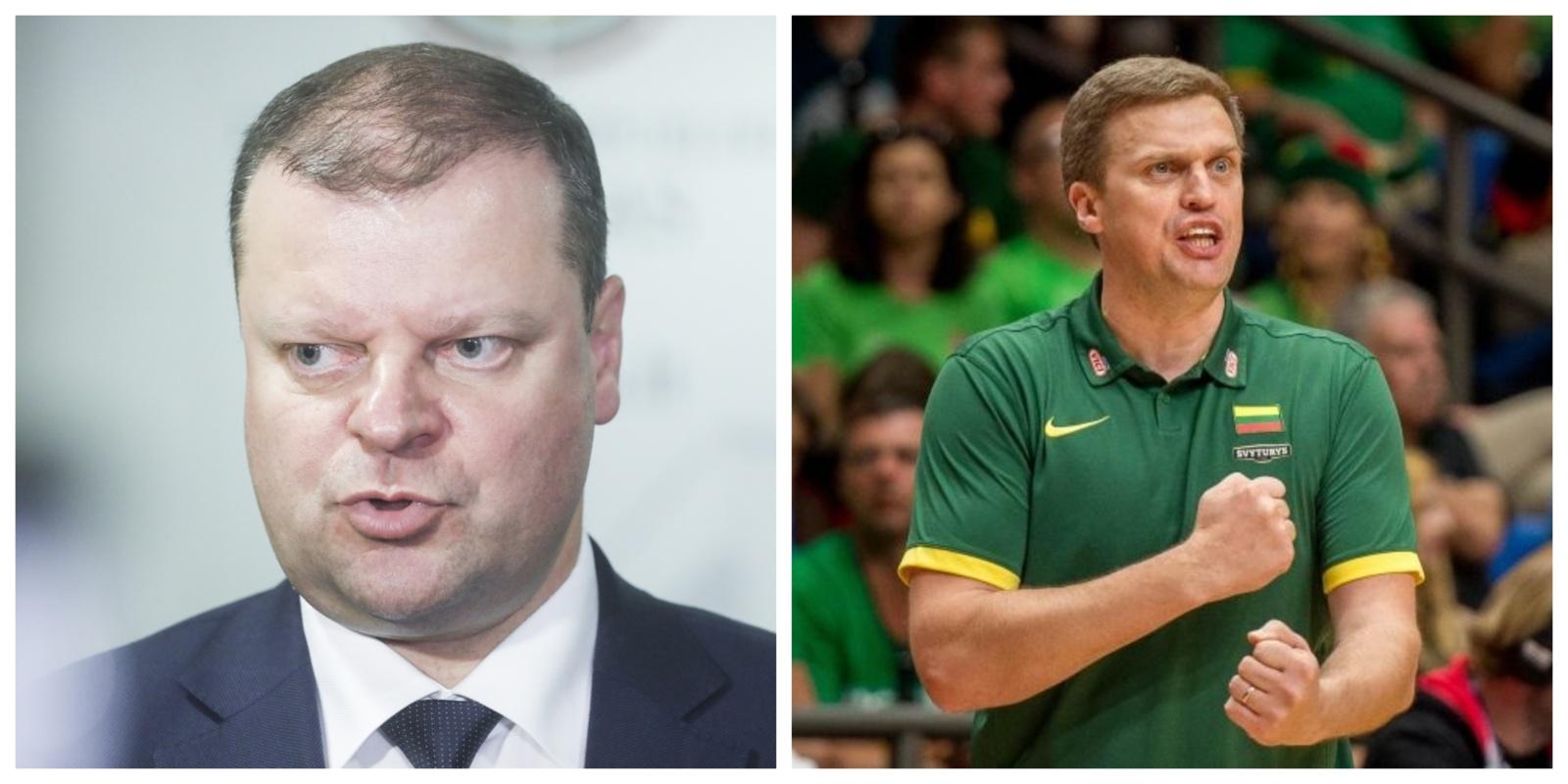 Lietuvos krepšinio rinktinės trenerio kritika FIBA yra teisinga, sako S. Skvernelis