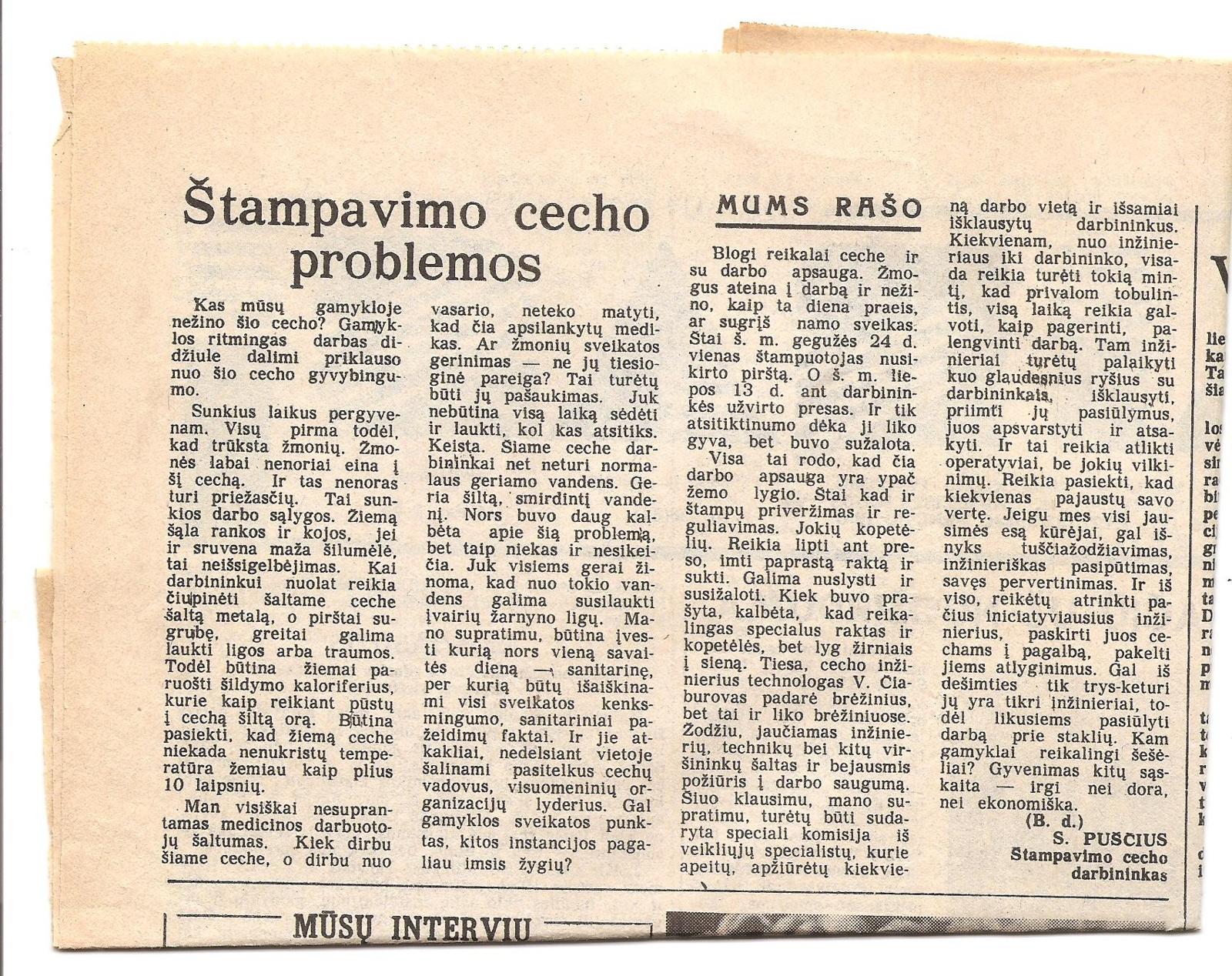 Ar prie sovietų buvo galima kritikuoti valdininkus?