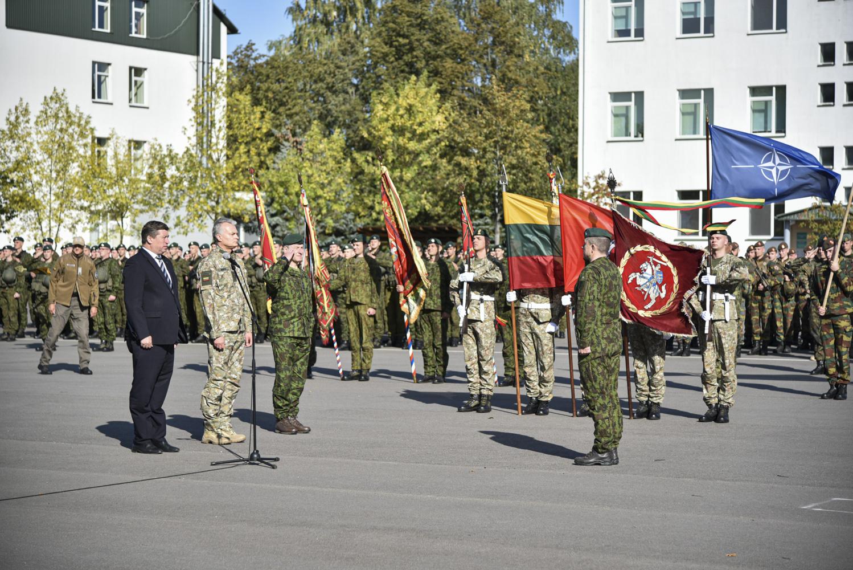 Lietuvos Respublikos Prezidentas Gitanas Nausėda aplankė karinius dalinius Rukloje