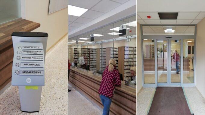 Permainos: pacientus pasitiks naujos durys ir modernizuota registratūra