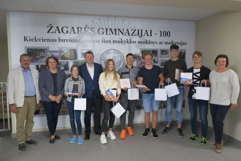 Rajono meras padėkojo sportininkams, atstovavusiems Lietuvai