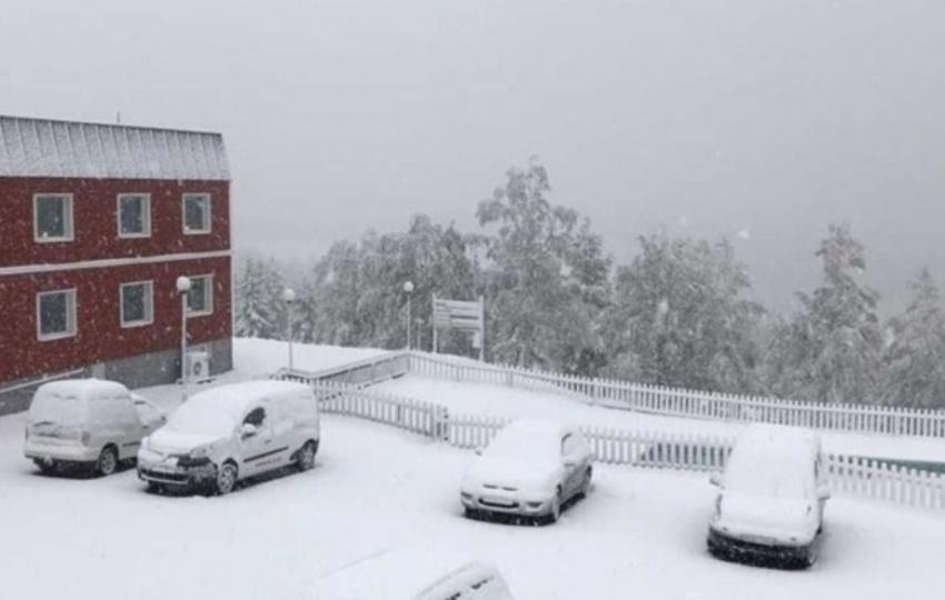 Švediją nustebino ankstyvas sniegas
