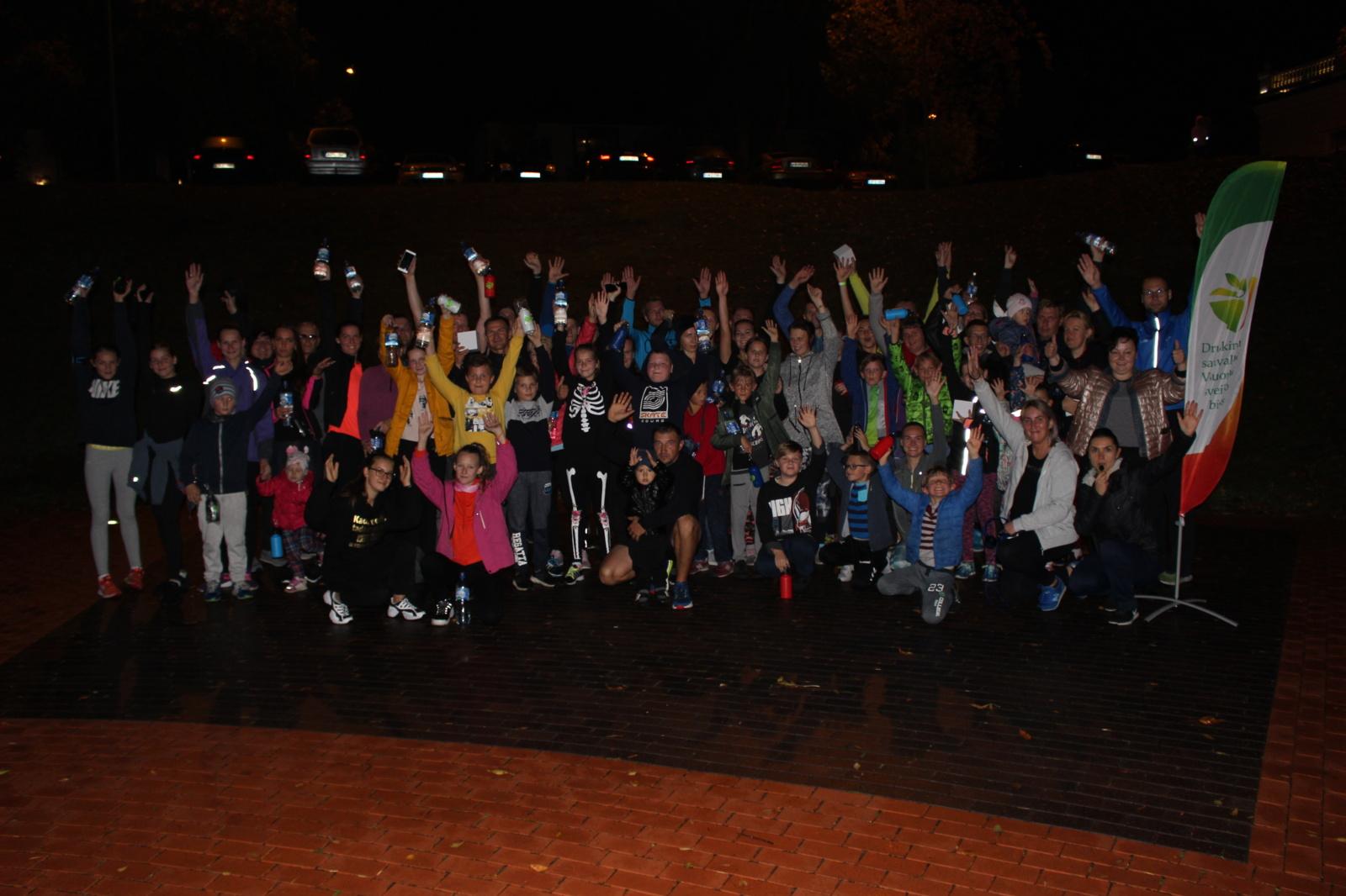 """Druskininkų savivaldybės visuomenės sveikatos biuro organizuotas naktinis bėgimas """"Crazy night run II"""""""