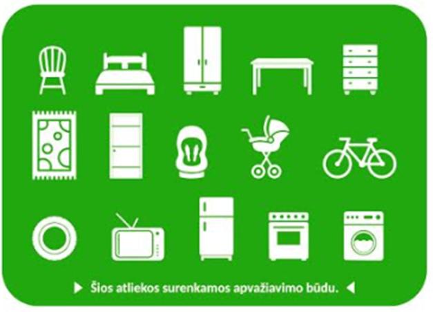 Primena apie Šiaulių rajone vykdomą didelių gabaritų atliekų surinkimą