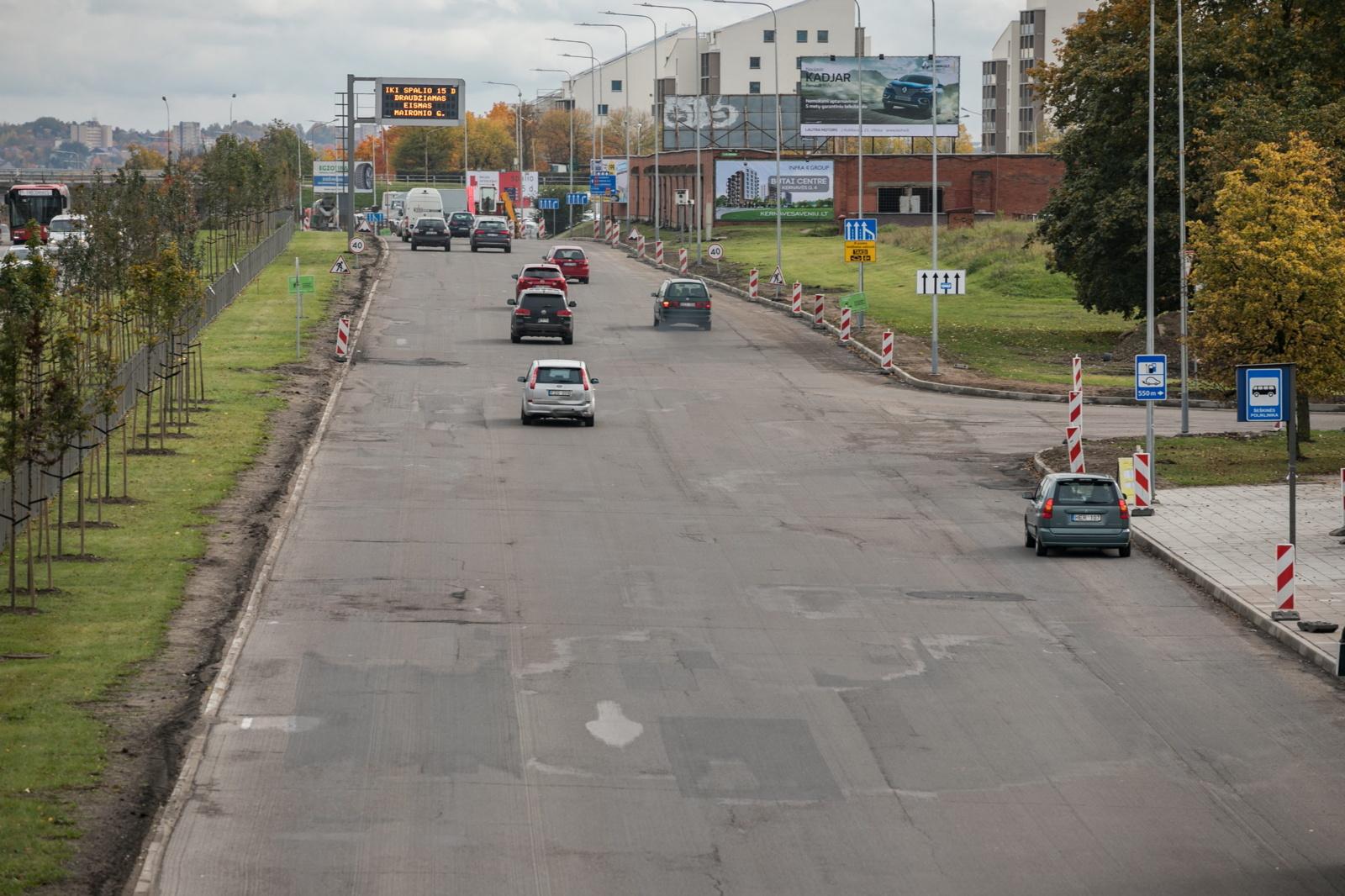 Dėl Ukmergės gatvės atnaujinimo darbų – laikini eismo pokyčiai Vilniuje