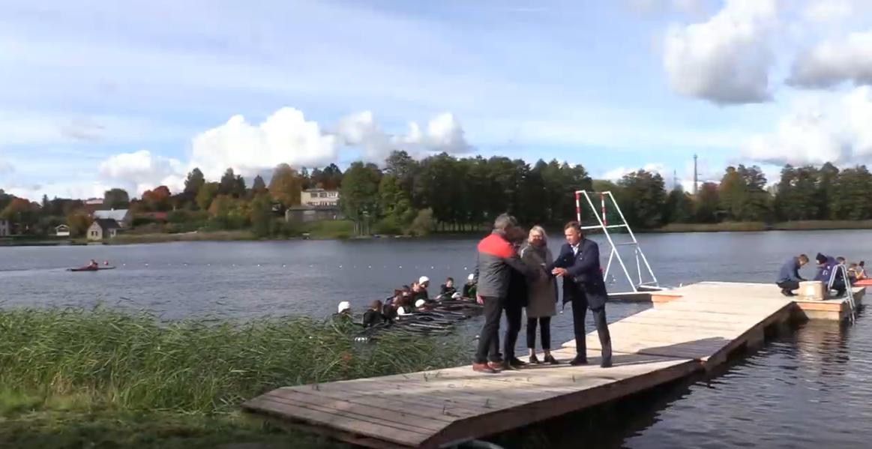 Alytaus rajono kanupolininkai treniruosis su naujomis baidarėmis (vaizdo įrašas)
