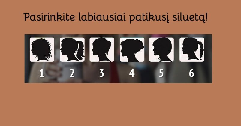 Testas: išsirinkite patikusį siluetą ir sužinokite, koks jūsų charakteris!
