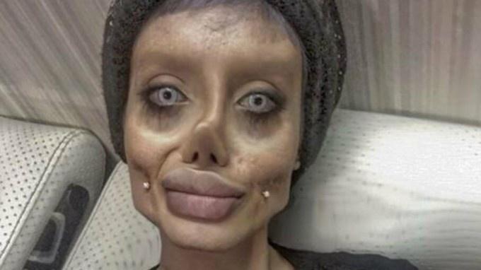 Angelinos Jolie kopija vadinama iranietė sulaikyta dėl šventvagystės
