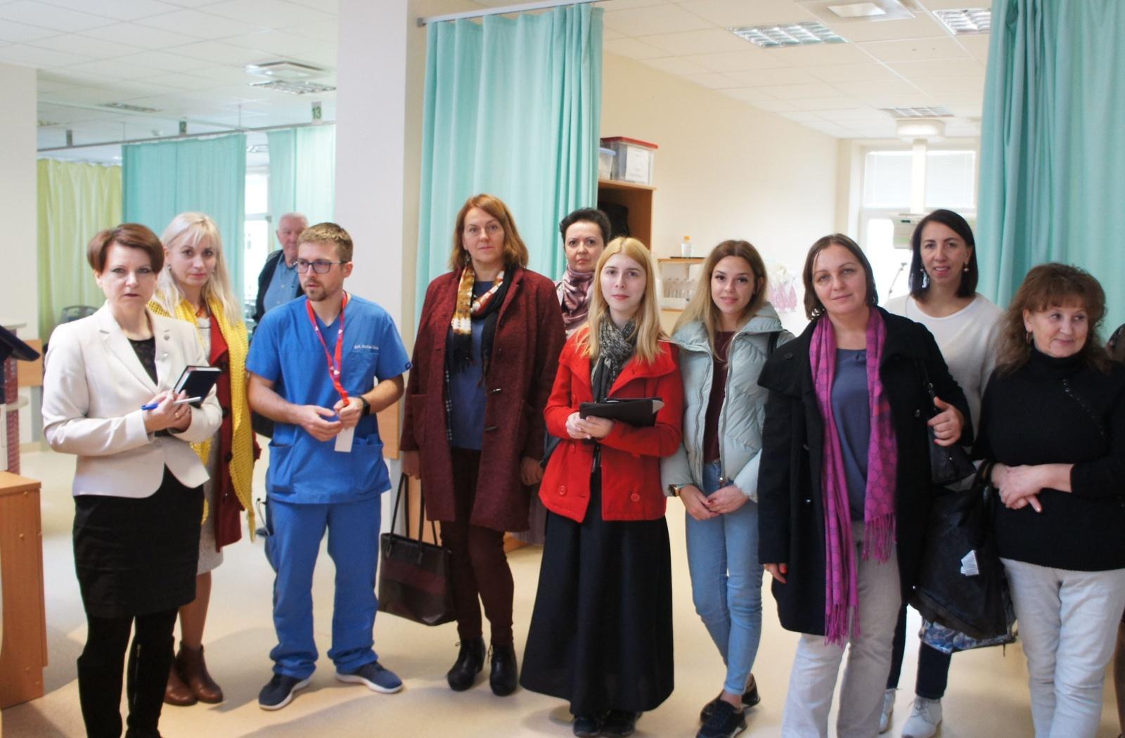 Ligoninėje lankėsi socialinio darbo studijų magistrantės iš Ukrainos