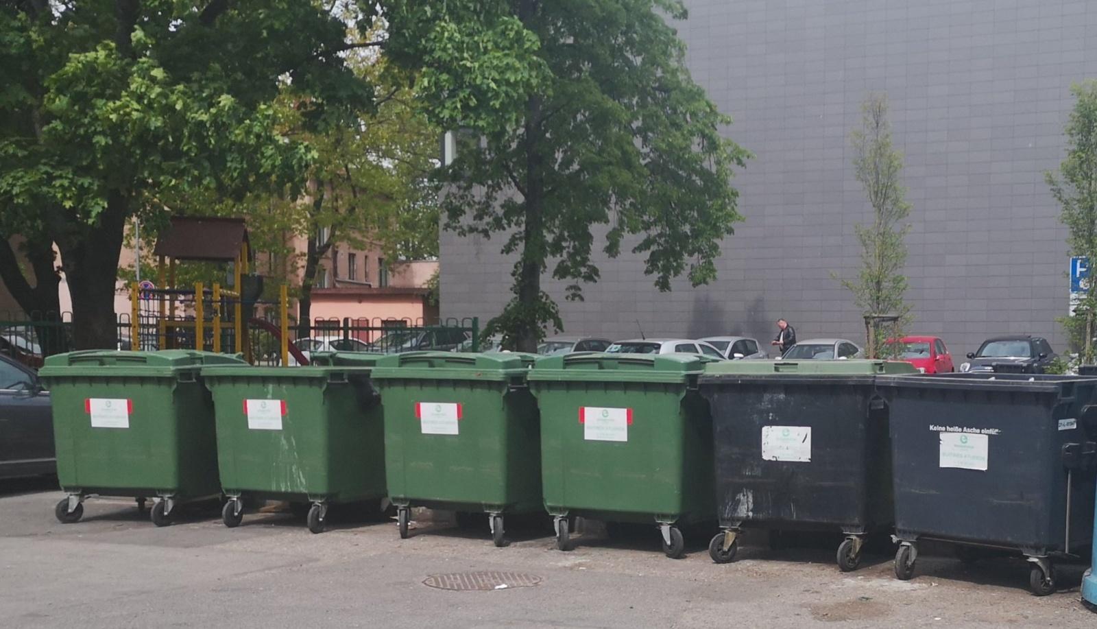 Planuojamos pusiau požeminių konteinerių aikštelės