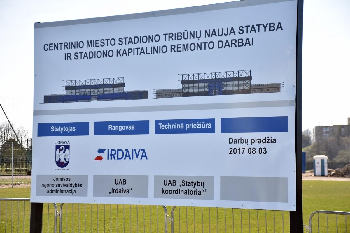 Stabdo darbus Jonavos centriniame stadione