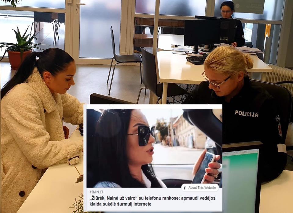 Kelių policiją aplankė Simona Nainė: žinomai moteriai skirta bauda
