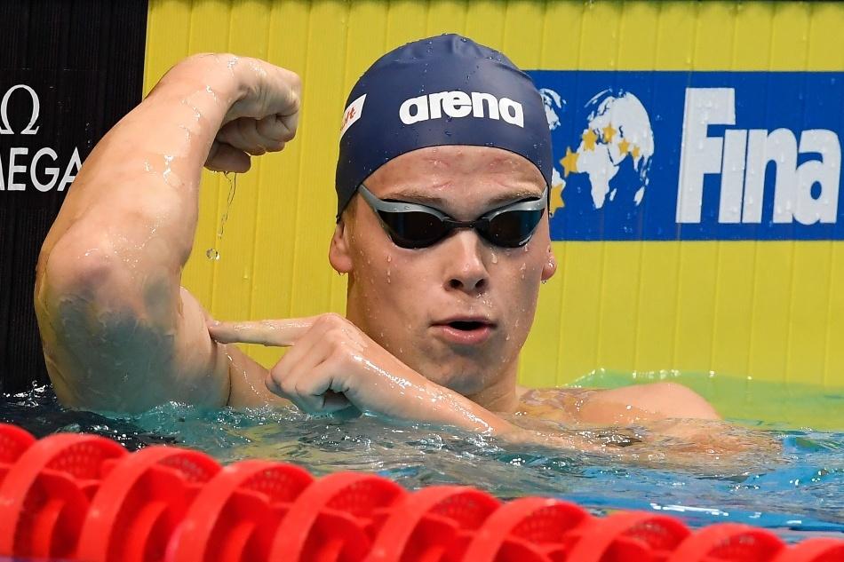 Plaukikas D. Rapšys pasaulio taurės varžybose Vokietijoje iškovojo dar vieną aukso medalį