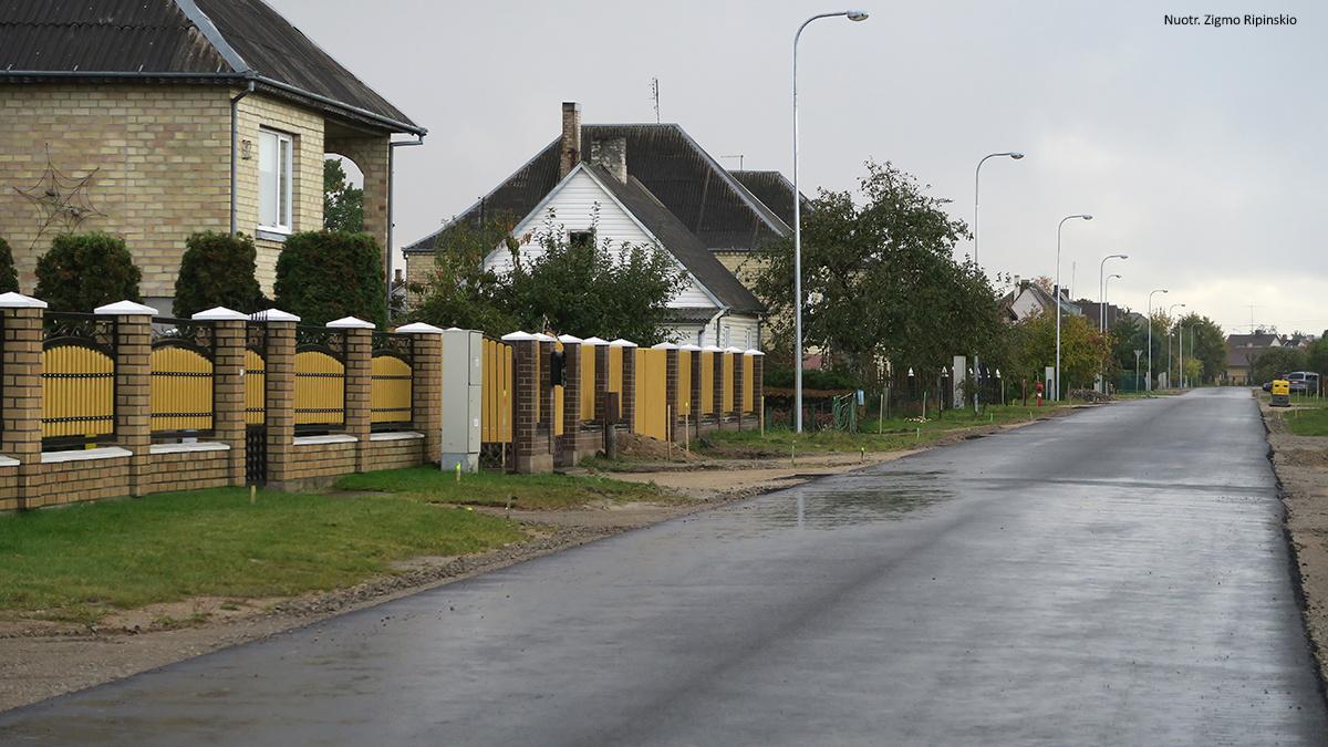 Dar viena išasfaltuota gatvė Kuršėnuose