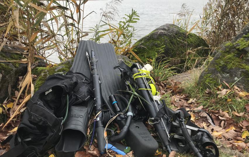 Sartų ežere sulaikyti po vandeniu žvejoję pažeidėjai