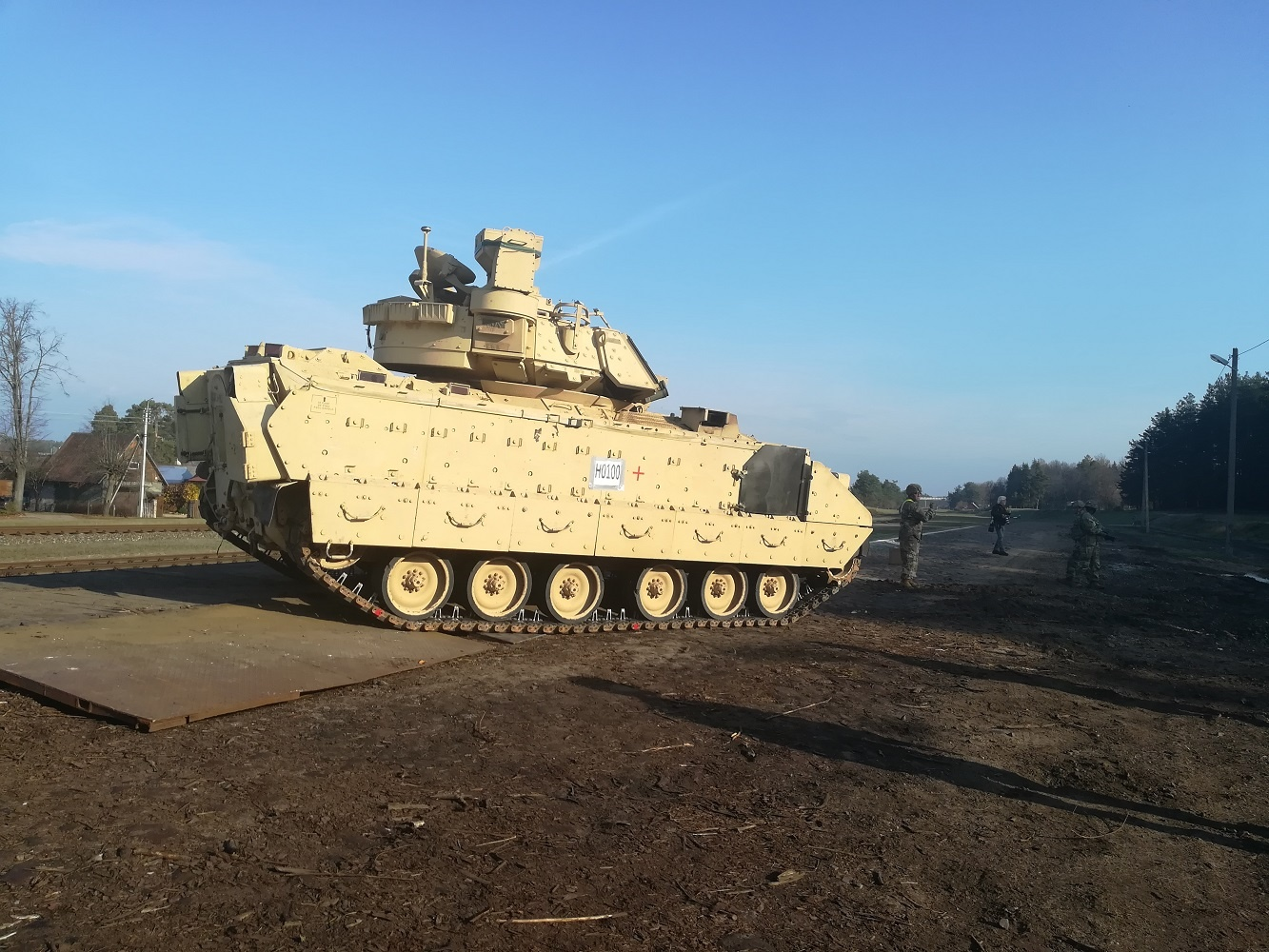 Į Lietuvą atvyko JAV tankai