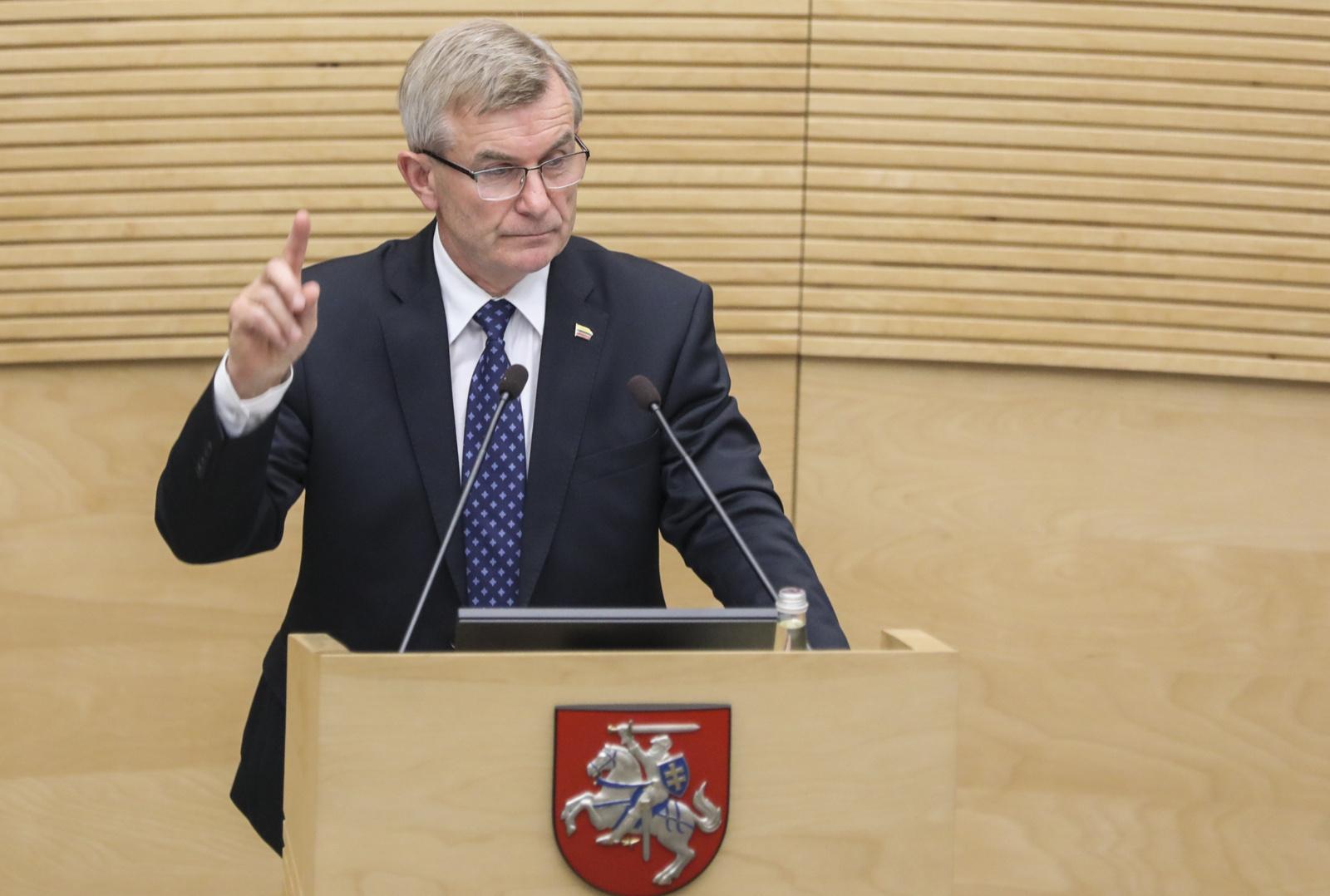 Seimas dar kartą balsuoja dėl V. Pranckiečio likimo