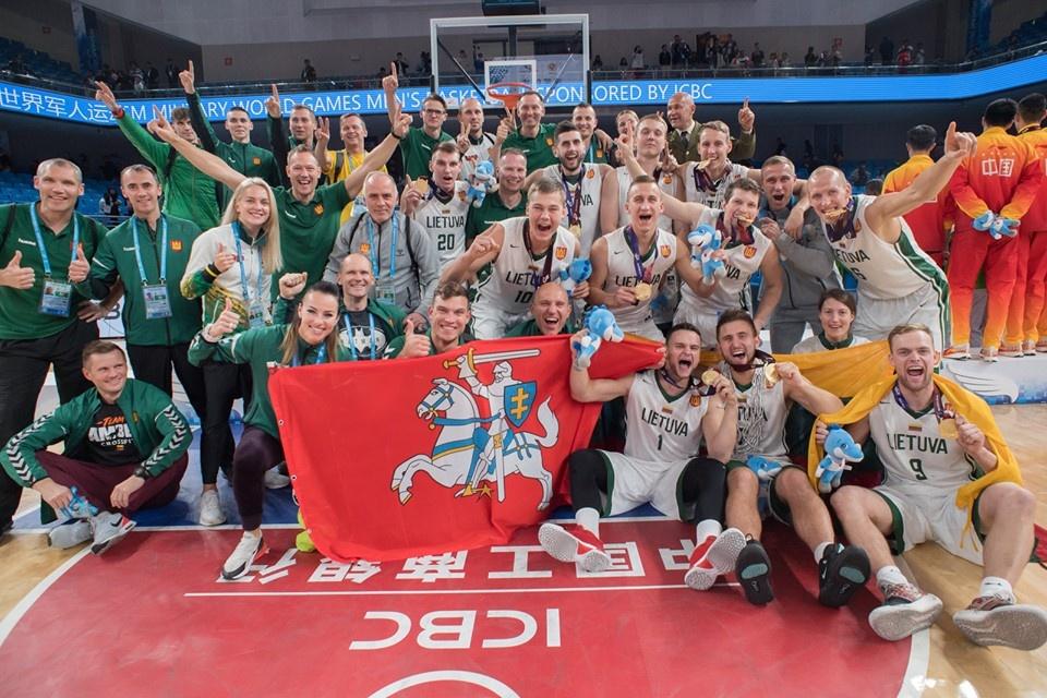 Lietuvos kariškių rinktinė – pasaulio krepšinio čempionė