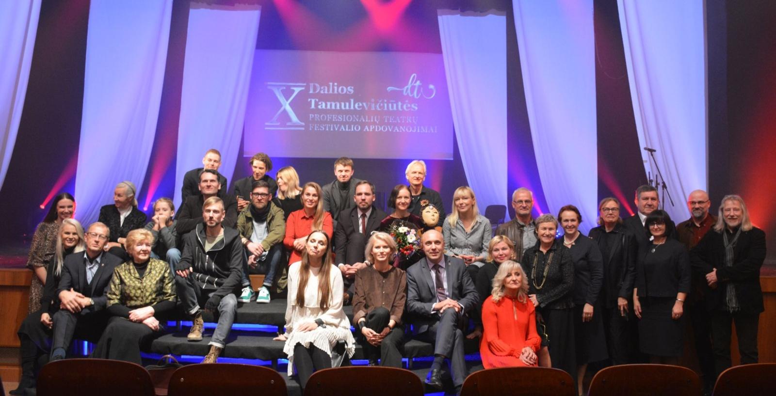 Dešimtojo Dalios Tamulevičiūtės profesionalių teatrų festivalio uždaryme nominuoti geriausi teatro kūrėjai