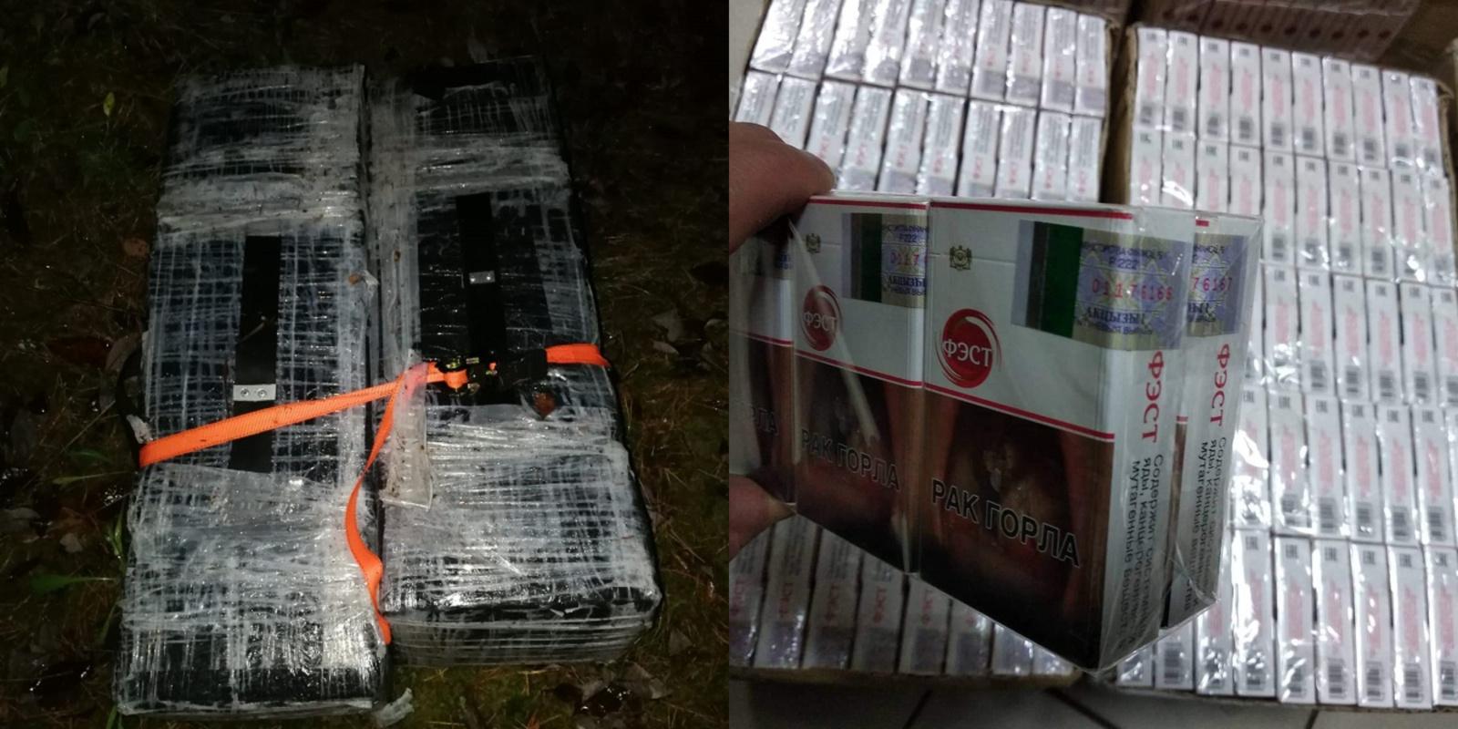 Švenčionių rajono miške kontrabandininkai pametė 2 tūkstančius pakelių cigarečių