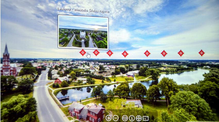 Pristatytas Šilalės rajono virtualus turas iš paukščio skrydžio