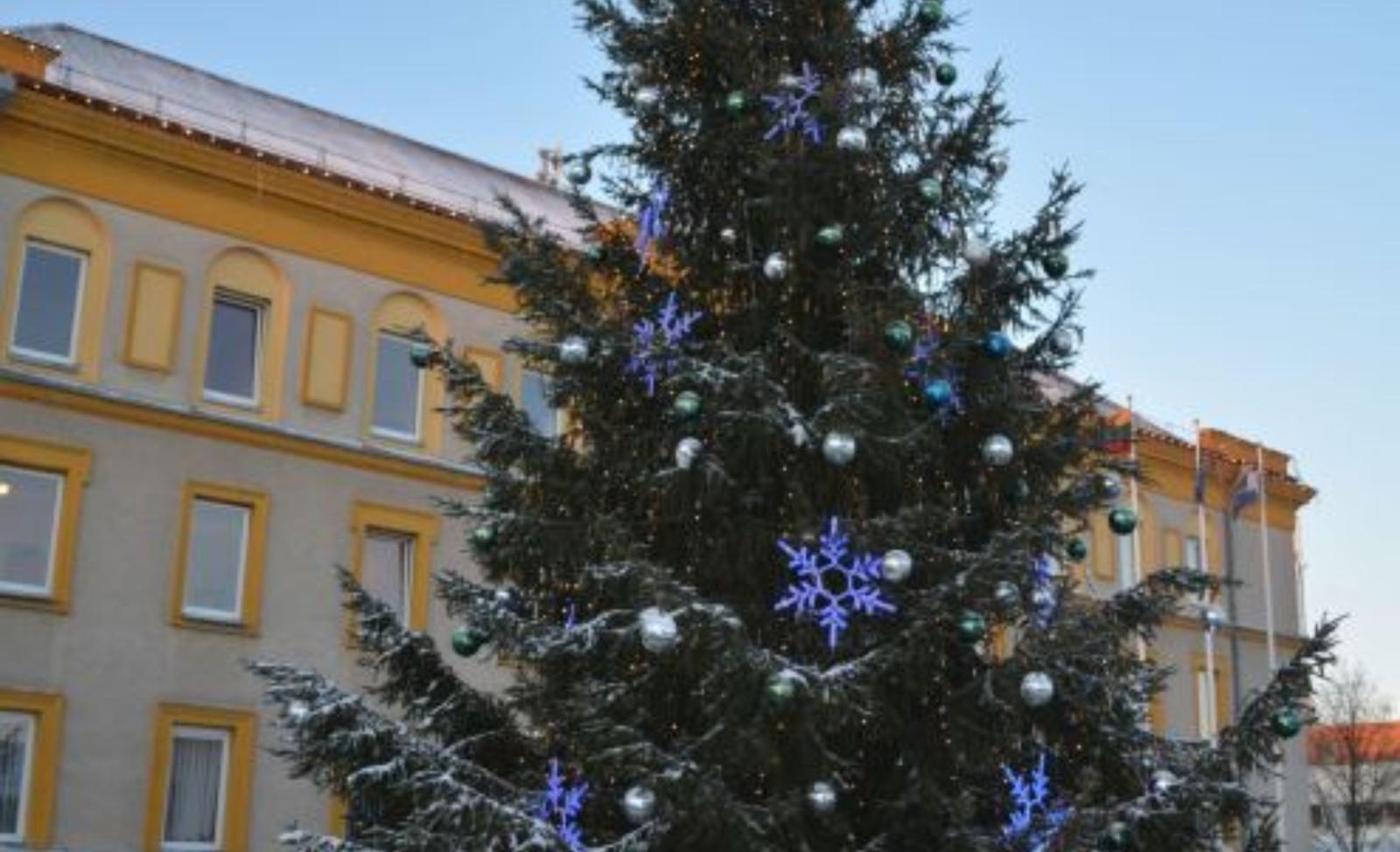 Kviečia padovanoti Varėnos miestui Kalėdų eglę